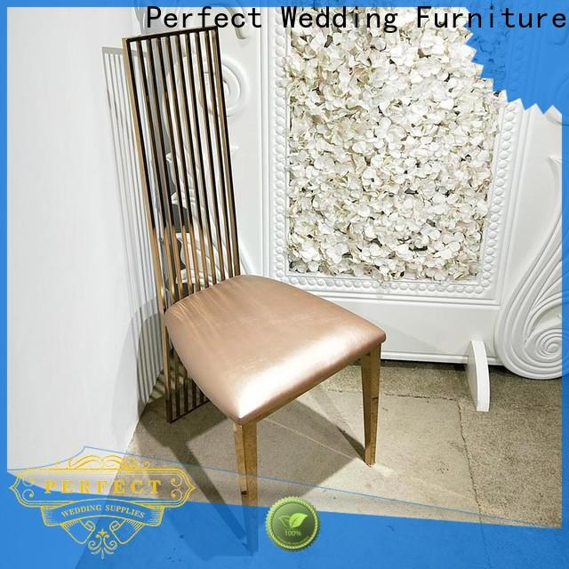 Perfect Wedding Furniture steel party tables and chairs Suppliers for hotel