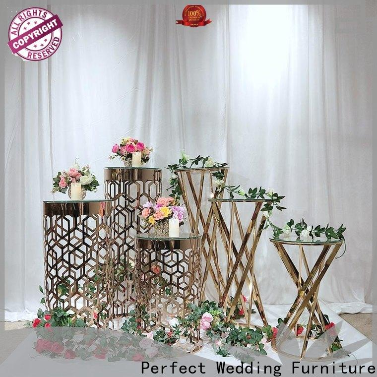 Top gold flower stand glass manufacturers for home
