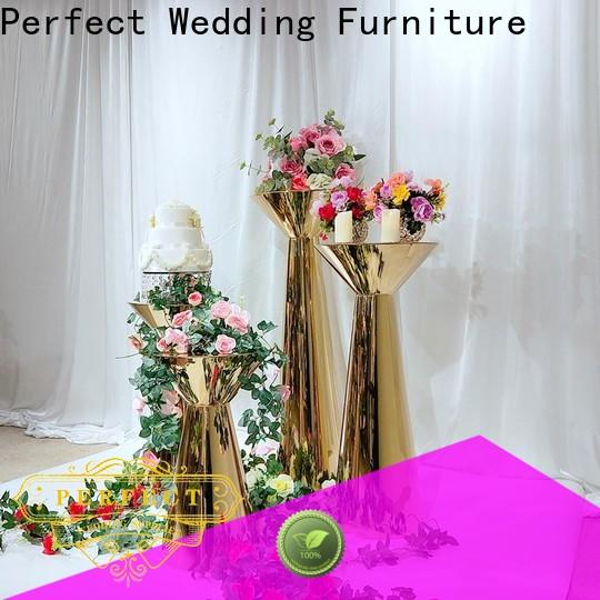 High-quality metal flower stand gold for business for home