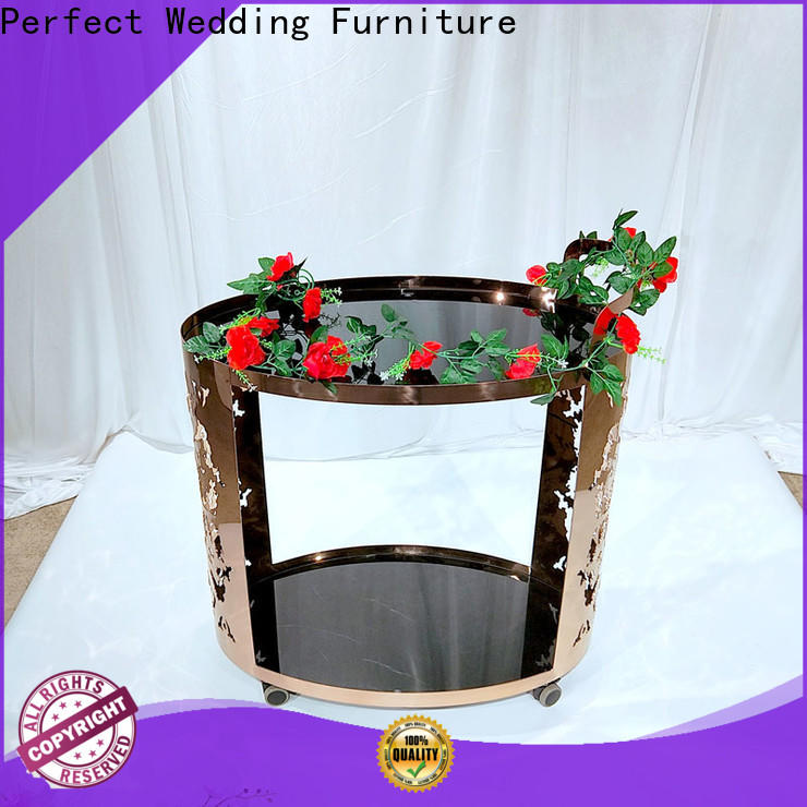 Perfect Wedding Furniture Custom serving cart company for wedding ceremony
