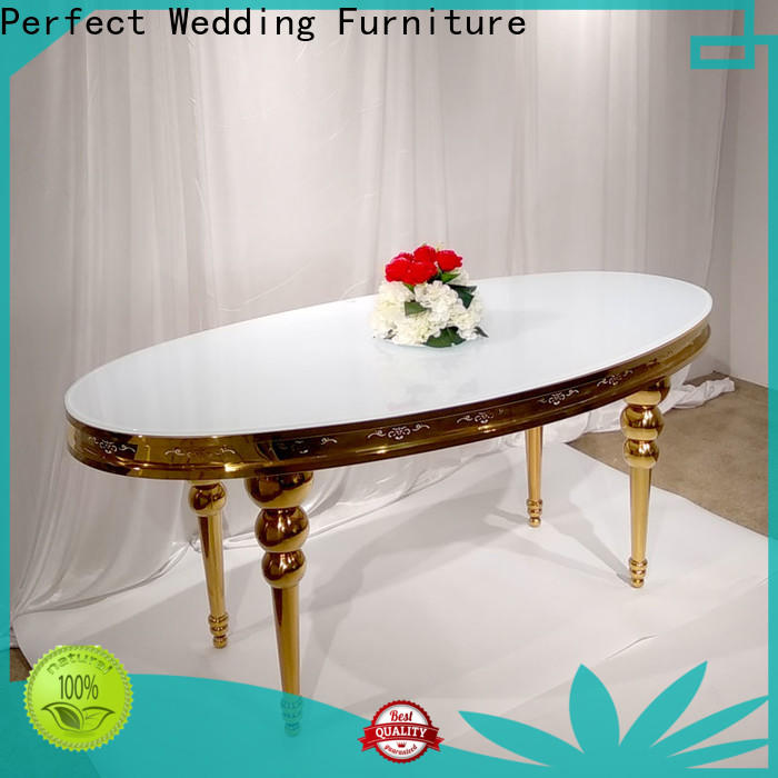 Latest wedding banquet table decorations steel Supply for dining room