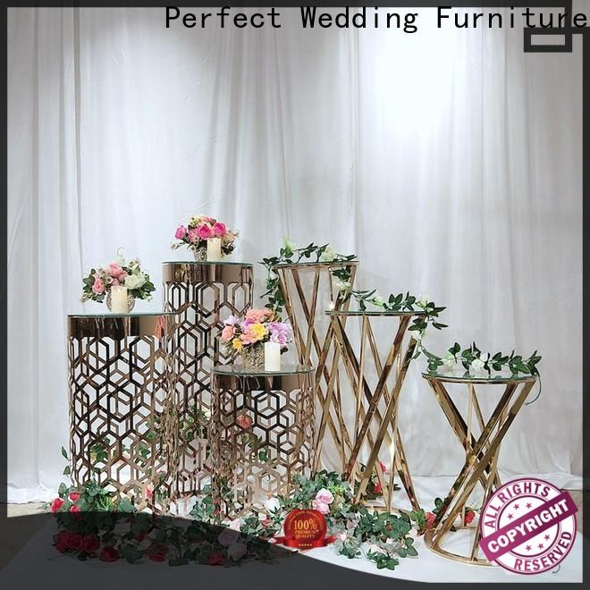 Perfect Wedding Furniture gold gold flower stand Supply for home