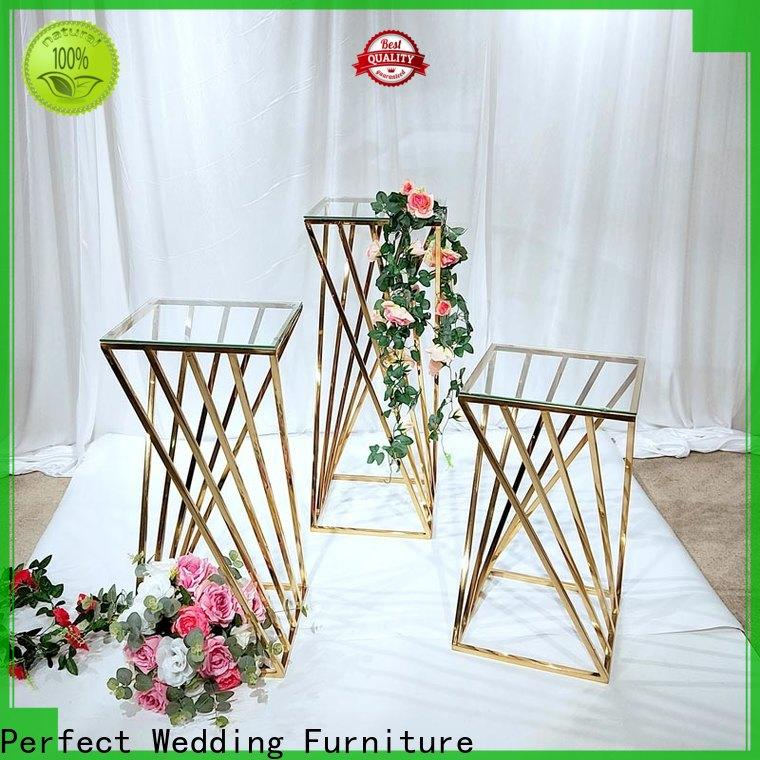 Latest wedding flower stand color Supply for wedding ceremony
