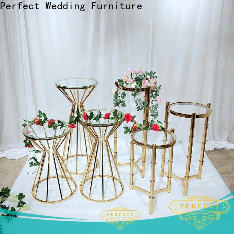 Perfect Wedding Furniture beautiful gold flower stand factory for home