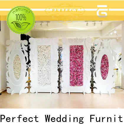 Perfect Wedding Furniture sliver wedding screen partition Supply for hotel