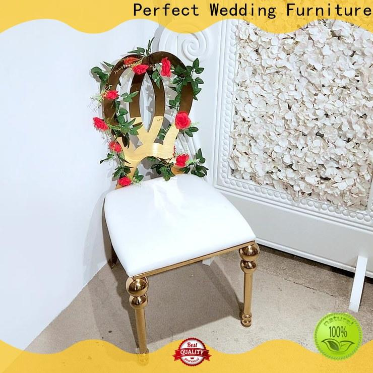 Perfect Wedding Furniture New gold wedding chairs Suppliers for hotel