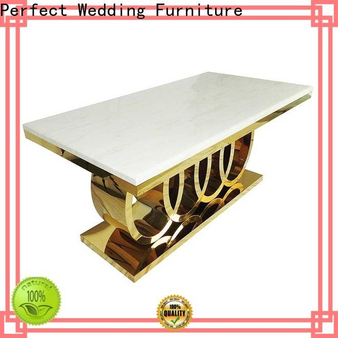 Perfect Wedding Furniture marble large wedding table centerpieces Supply for wedding ceremony