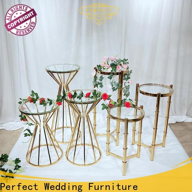 Best gold flower stand steel Supply for hotel
