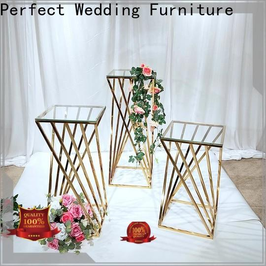 Perfect Wedding Furniture Custom metal flower stand for business for wedding ceremony
