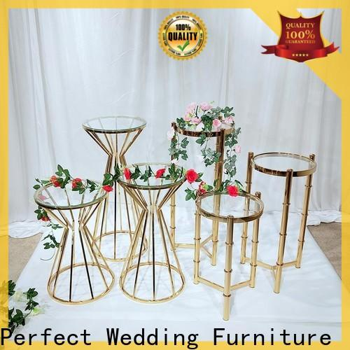 Perfect Wedding Furniture stainless gold flower stand factory for wedding ceremony