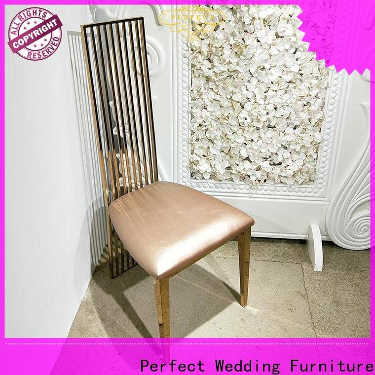 Perfect Wedding Furniture laser gold wedding chairs manufacturers for wedding ceremony