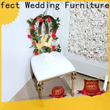 Custom catering chairs steel manufacturers for wedding ceremony