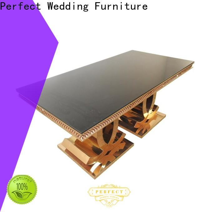 Perfect Wedding Furniture rectangle reception table settings factory for hotel