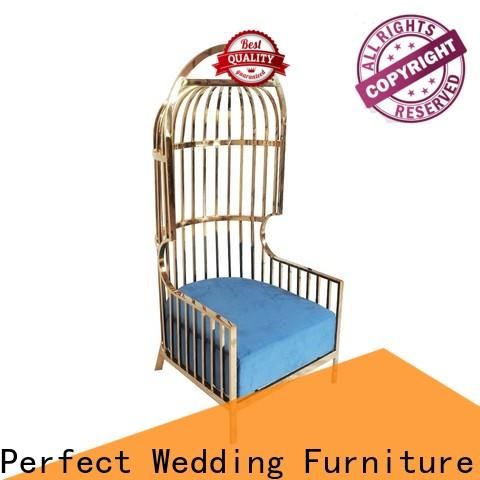 Perfect Wedding Furniture New king and queen throne chairs factory for hotel