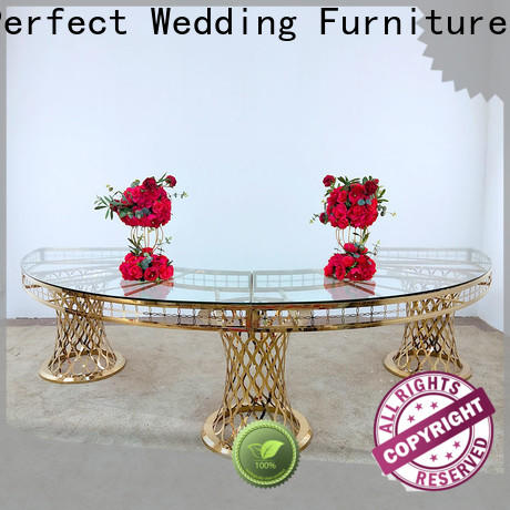 Perfect Wedding Furniture pvc wedding bridal table decorations manufacturers for hotel