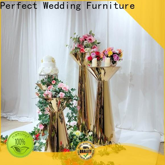Perfect Wedding Furniture color gold flower stand Supply for hotel