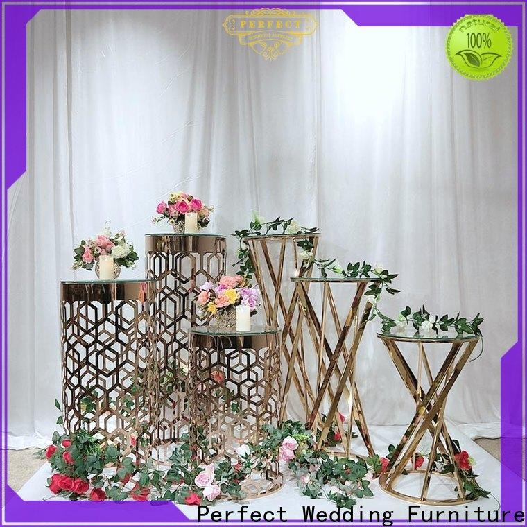 Perfect Wedding Furniture color metal flower stand Supply for wedding ceremony