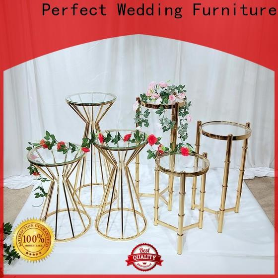 Wholesale gold flower stand beautiful company for home