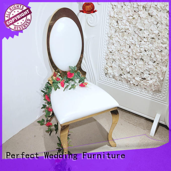 Perfect Wedding Furniture laser wedding chairs for bride and groom wholesale for wedding ceremony