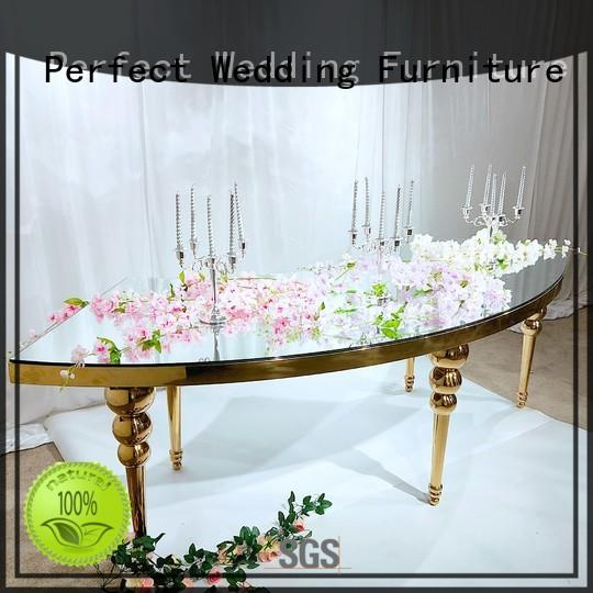 marble wedding party dining table in various sizes for dining room Perfect Wedding Furniture