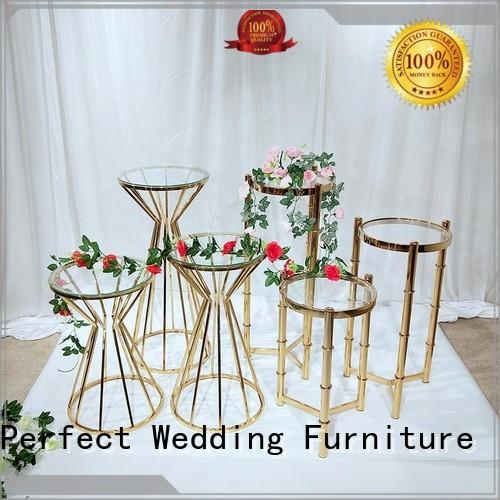durable floral stand stainless series for hotel