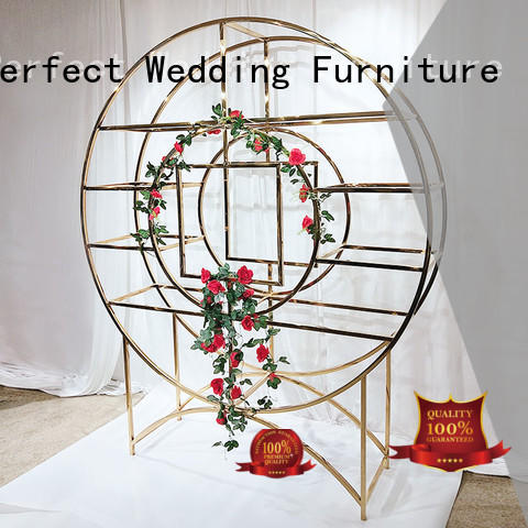 high quality decorative shelving units gold to accommodate for wedding ceremony
