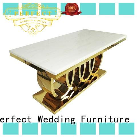 Perfect Wedding Furniture marble wedding party table wholesale for dining room