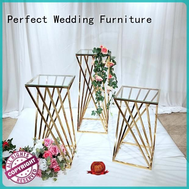 durable wedding flower stand steel manufacturer for home