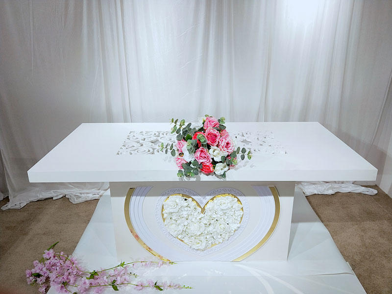 Perfect Wedding Furniture stainless bridal table centerpieces Supply for dining room-3