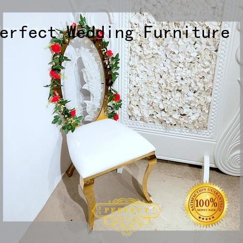 durable wedding chairs for bride and groom back manufacturer for hotel