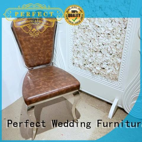 Perfect Wedding Furniture stainless steel party tables and chairs supplier for wedding ceremony