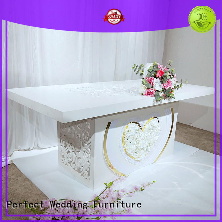 Perfect Wedding Furniture high quality wedding reception table in various sizes for hotel