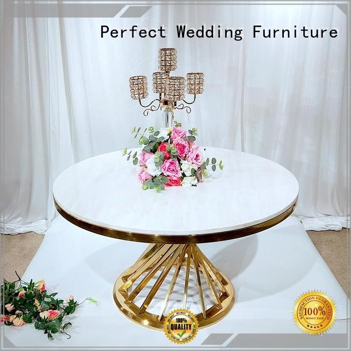 Perfect Wedding Furniture customized gold wedding table designs for wedding ceremony