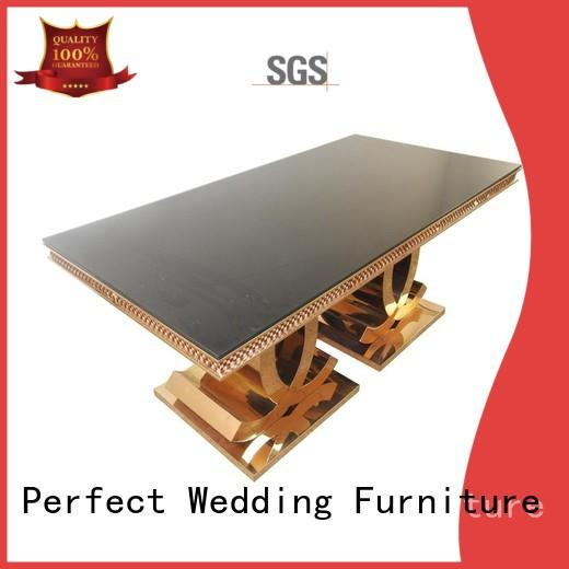 steel wedding table design in various shapes for hotel Perfect Wedding Furniture