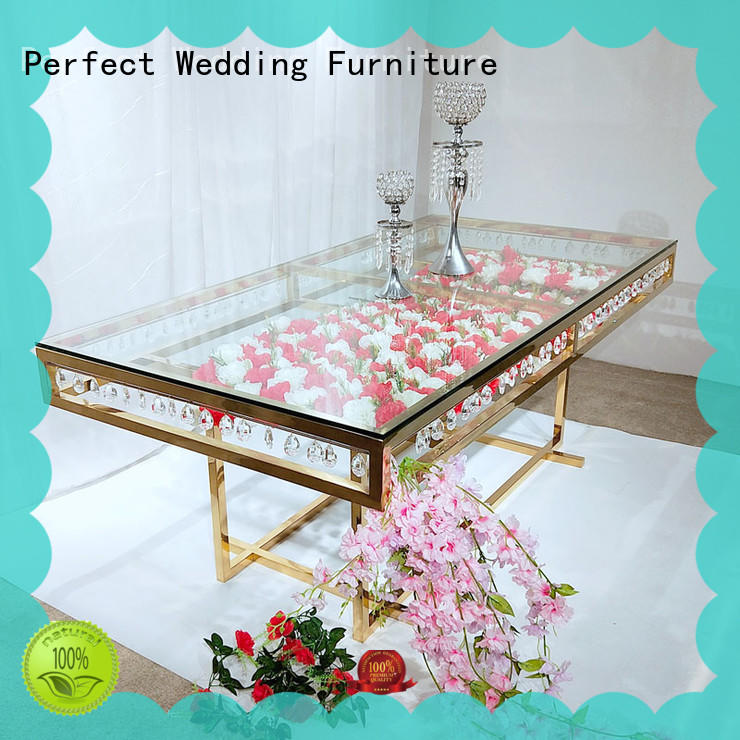 Perfect Wedding Furniture stainless wedding top table ideas supplier for hotel