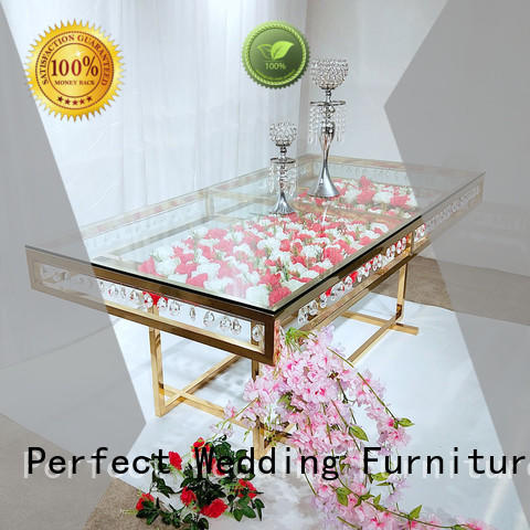Perfect Wedding Furniture gold wedding banquet tables supplier for hotel
