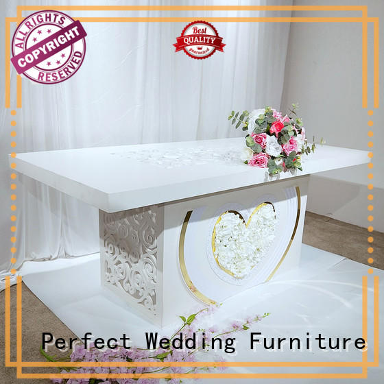 glass wedding reception dining table in various shapes for wedding ceremony Perfect Wedding Furniture