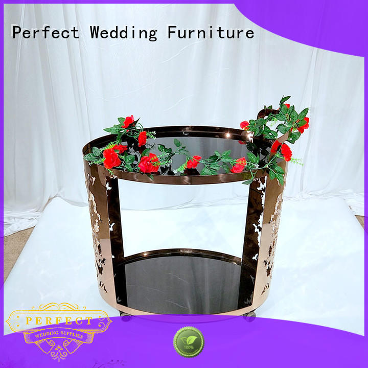 Perfect Wedding Furniture dining trolley bar cart supplier for wedding ceremony