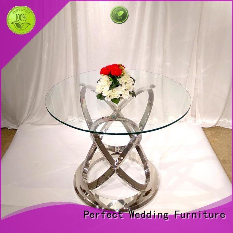 Perfect Wedding Furniture customized round wedding tables in various shapes for wedding ceremony