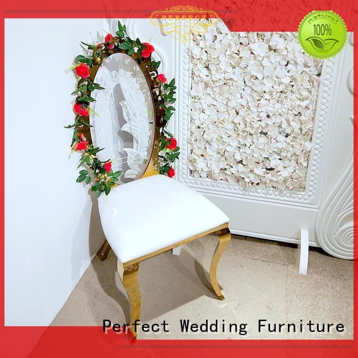 Perfect Wedding Furniture steel bridal chair manufacturers for wedding ceremony