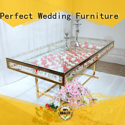 Perfect Wedding Furniture steel wedding banquet tables wholesale for hotel