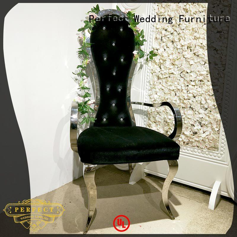 stainless high back king chair wholesale for hotel Perfect Wedding Furniture