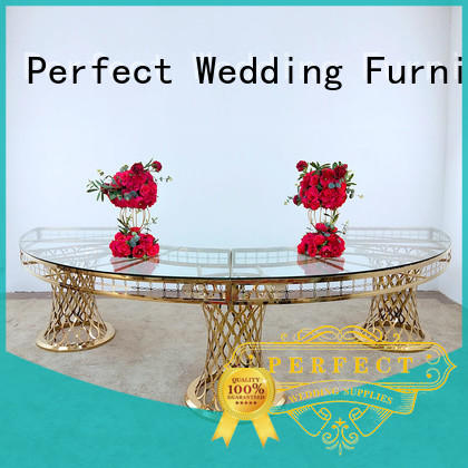marble big stainless Perfect Wedding Furniture Brand wedding dining sets factory