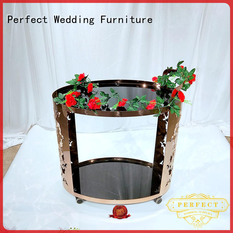 Perfect Wedding Furniture Custom rolling bar cart factory for hotel