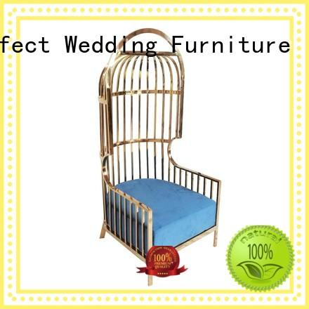 Perfect Wedding Furniture gold king and queen chairs for weddings series for wedding ceremony