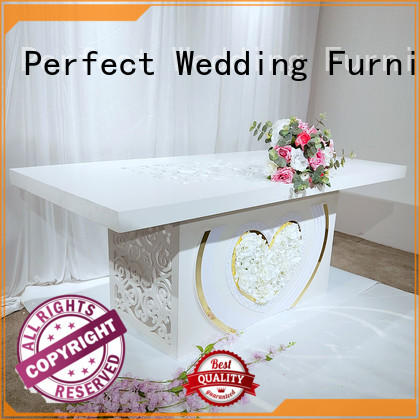 high quality top table wedding white in various sizes for hotel