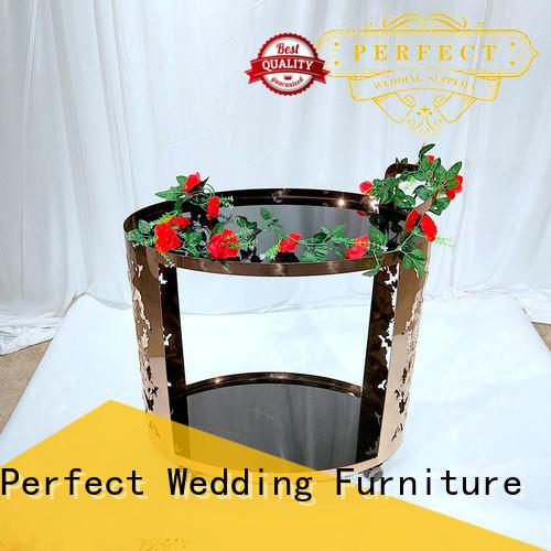 Perfect Wedding Furniture beaty rolling bar cart trolley for wedding ceremony