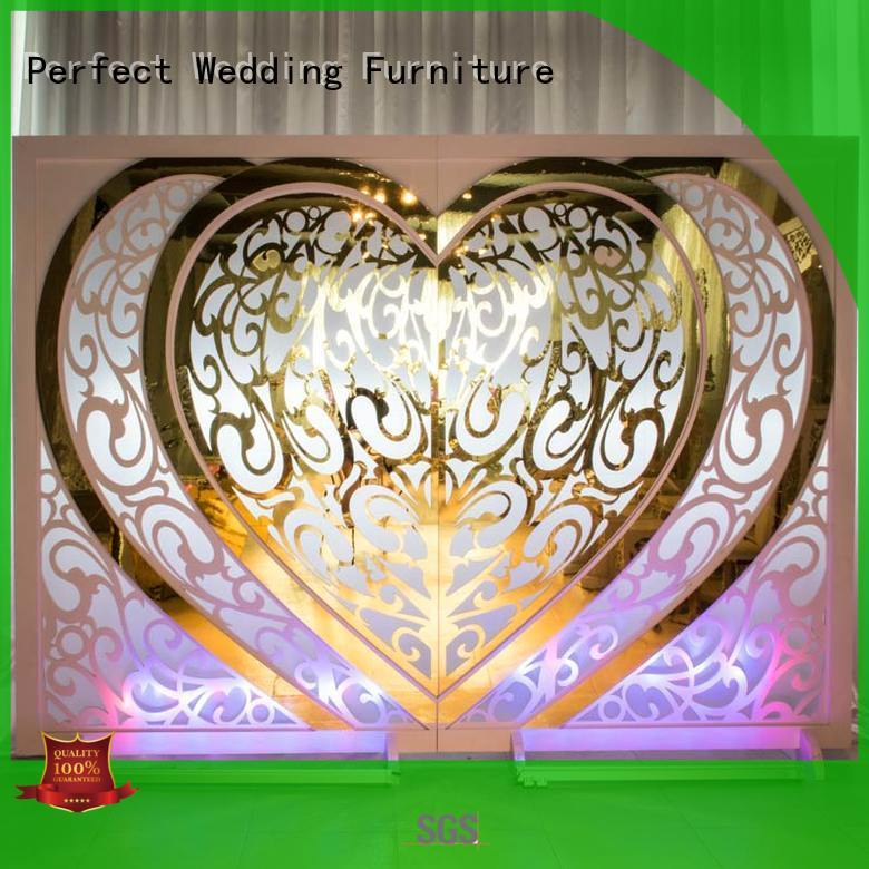 gold wedding screen partition screen for wedding ceremony Perfect Wedding Furniture