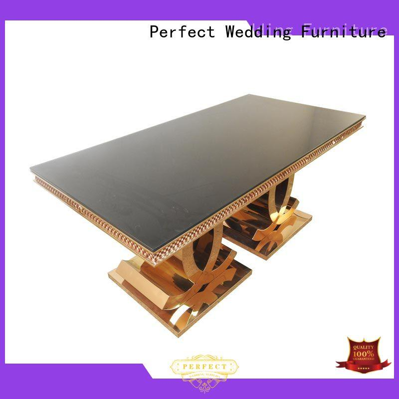 Perfect Wedding Furniture stainless wedding party table in various sizes for dining room