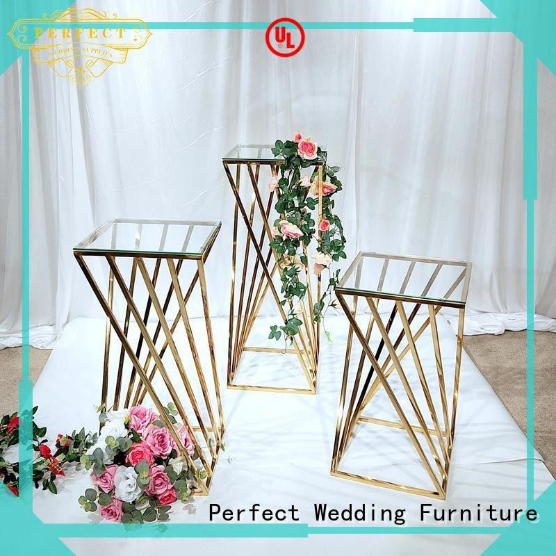 flower stand for sale gold steel Perfect Wedding Furniture Brand